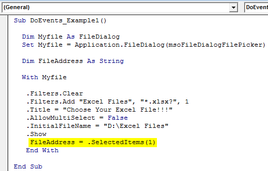 VBA FileDialog Example 1-12