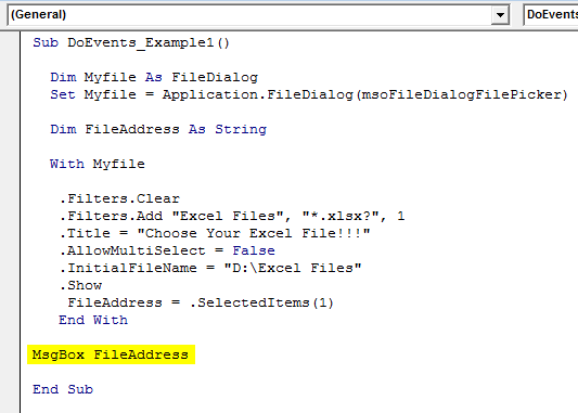 VBA FileDialog Example 1-13