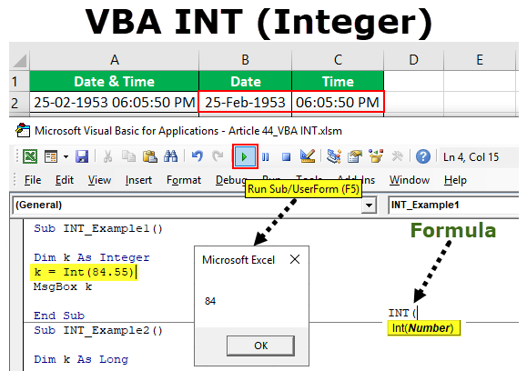 VBA INT (Integer) | Step by Step Examples to use INT