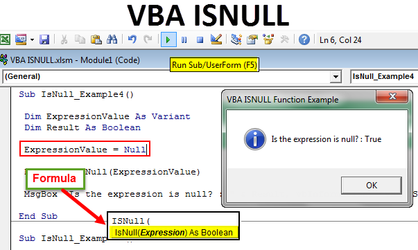 VBA ISNULL Function | How to Use VBA ISNULL() to Find Null ...
