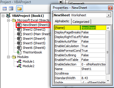 VBA Rename Sheet Example 3-3