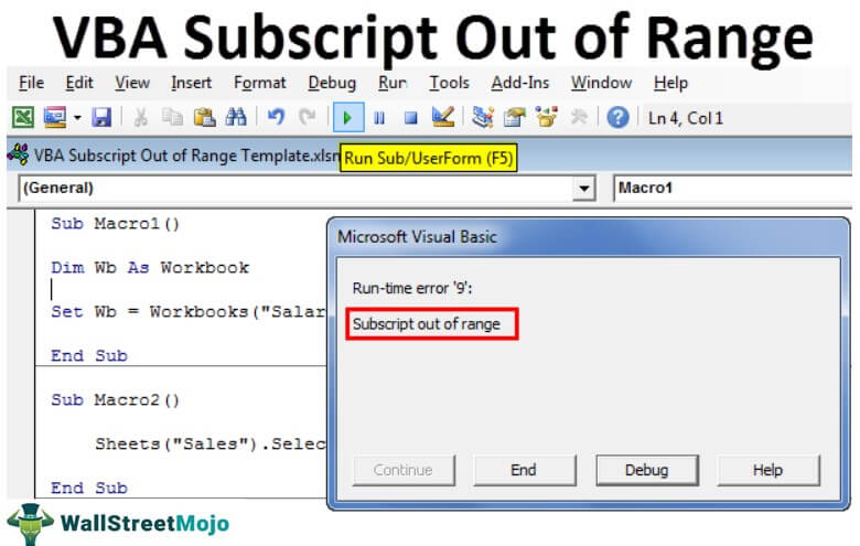 VBA Subscript Out of Range