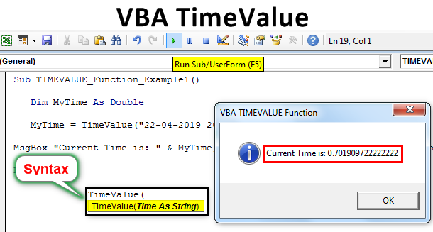 VBA TimeValue