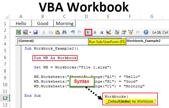 VBA Workbook | Complete Guide to VBA Workbook Object + Examples