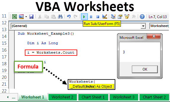 VBA Worksheet | How to use Worksheet Objects in Excel VBA + ...