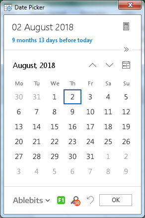calender example 3.4