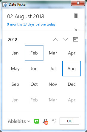 calender example 3.5