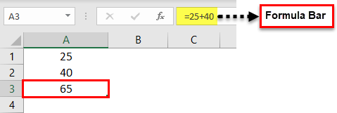 create a Formula in Excel 1-3