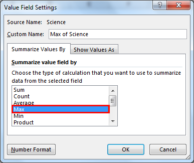 excel pivot table example 1.2