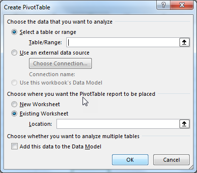 excel pivot table method 1.2
