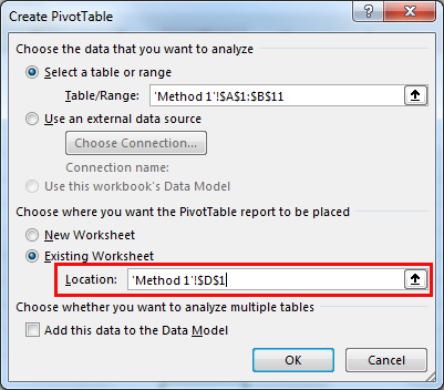 excel pivot table method 1.4
