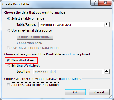 excel pivot table method 1.6