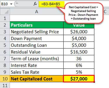 lease payment example 1