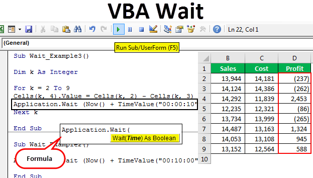 Vba Wait | How to use Excel VBA Wait Method? (with Examples)