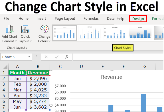 Change Chart Style in Excel
