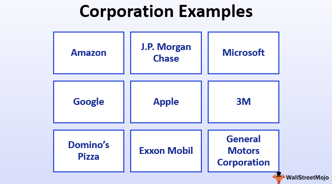 Corporation Examples