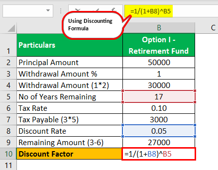 Discounting Formula Example 2.0.2