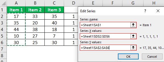 Dot Plots in Excel Example.1.17.0