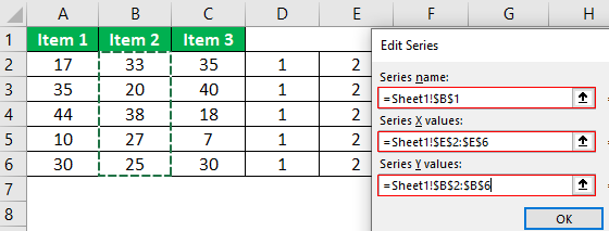 Dot Plots in Excel Example.1.19.0