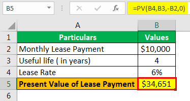 Equipment Lease Example 1-1