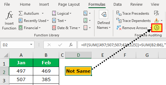 Evaluate Formula in Excel | Using F9 Key and