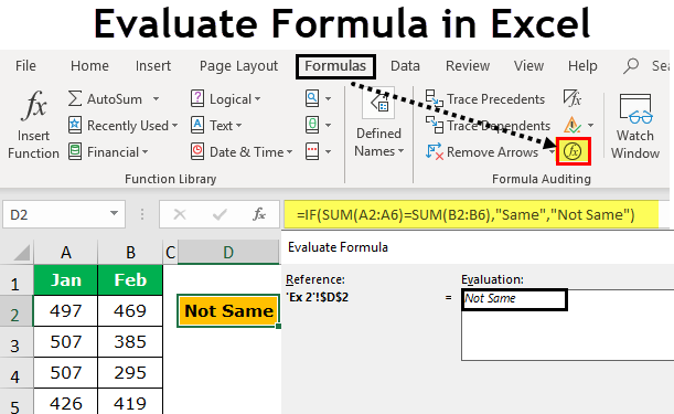 Evaluate Formula in Excel