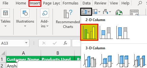 Excel Chart Legend Example.1.2