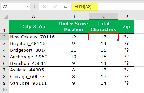 Extract Number from String Excel Example 1-5