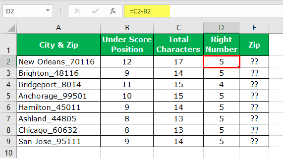 Extract Number from String Excel Example 1-6