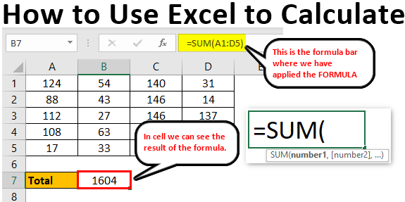 How to Use Excel to Calculate