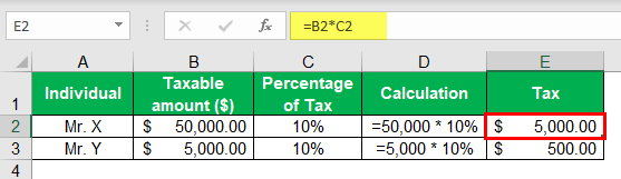 Income Tax Example 1