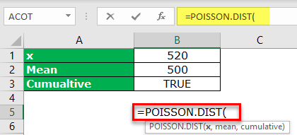 Poisson Distribution Excel Example 1-1