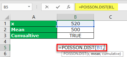 Poisson Distribution Excel Example 1-2