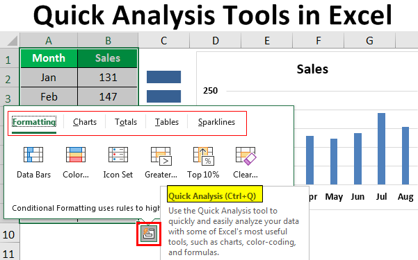 Quick Analysis Tools in Excel