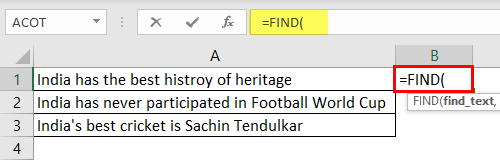 Search For Text Excel Example 1-1