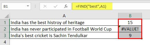 Search For Text Excel Example 1-4