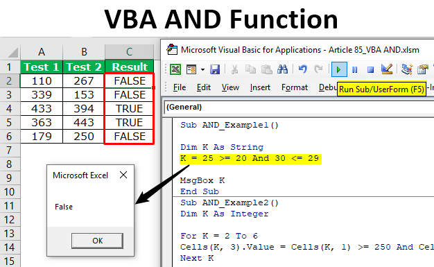 VBA AND Function