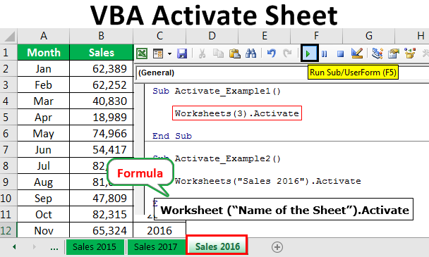 VBA Activate Sheet | How to Activate a sheet in Excel Using ...