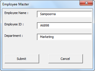 VBA Close UserForm Example 1-4
