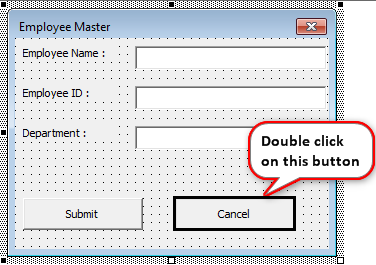VBA Close UserForm Example 1-7
