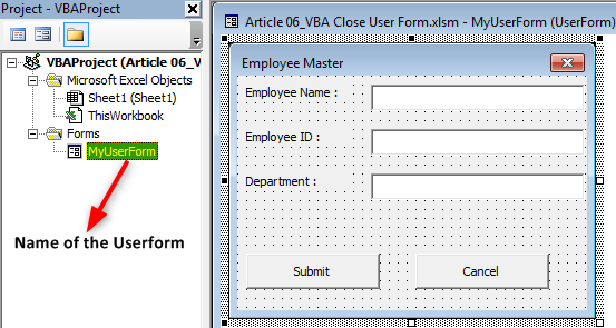 VBA Close UserForm | Top 2 Methods to Close Userform with Examples