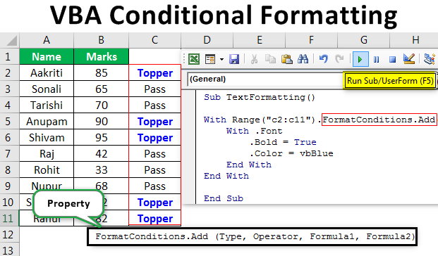 VBA Conditional Formatting | Apply Conditional Format using
