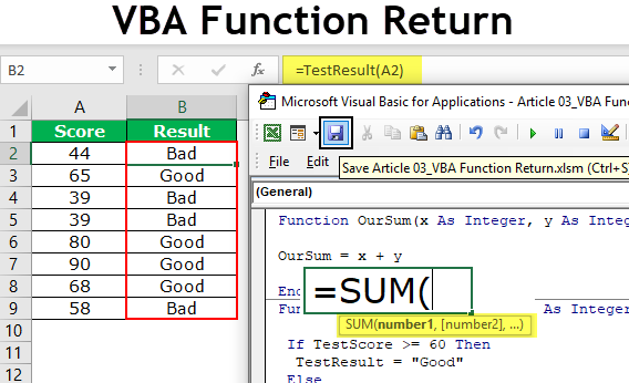 VBA Function Return