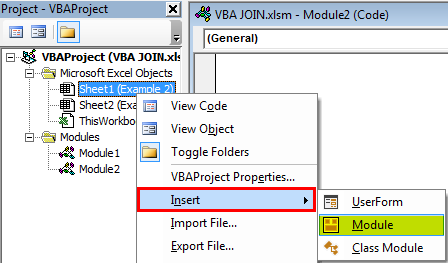 VBA join Example 1-1