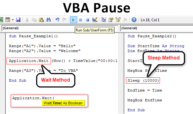 VBA Pause | Pause VBA Code using Sleep and Wait Function