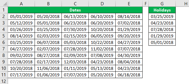 Conditional Formatting for Dates Example 1.17
