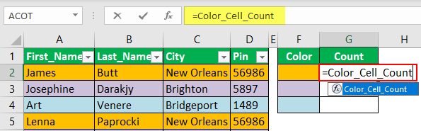 Count Cells using VBA Code 1-2