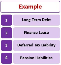 Examples of Long-Term Liabilities