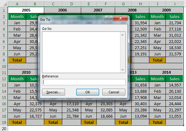 Excel Hacks Example 1-1