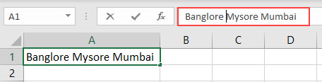 New Line in Excel Cell Method 1-2